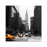 Quadro Impressão Digital Nova York Preto e Branco 45x45 Uniart