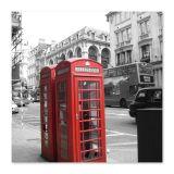 Quadro Londres Uniart Vermelho 30x30cm