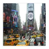 Quadro Nova York Taxis Uniart Colorido 45x45cm