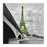 Quadro Paris Torre Uniart Verde 30x30cm