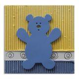 Quadro Urso Uniart Azul 30x30cm