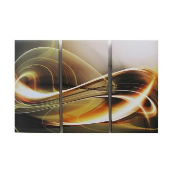 Quadros Impressão Digital Trio Marrom 120x80cm Uniart Trio Marrom Imp Digital 120x80