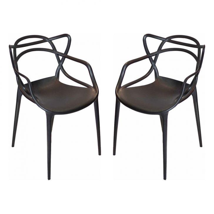 Conjunto 2 Cadeiras Umix 400P2 Preta