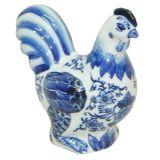 Decor Porcelana Blue Spirit Galinha Azul e Branco