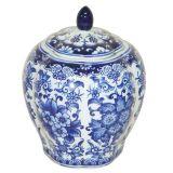 Pote Decorativo Blue Spirit Bojudo Azul e Branco Pequeno