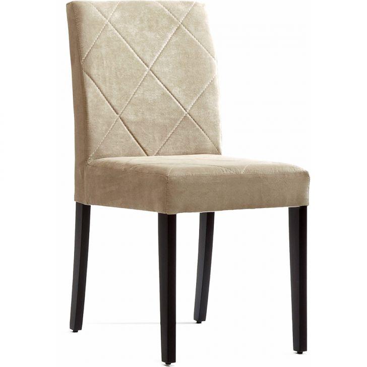 Cadeira Juli Sued Bege 302 com estrutura em madeira
