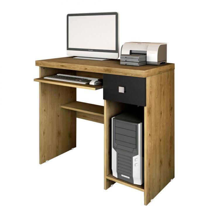 Escrivaninha System Canela e Preto Fosco