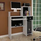 Mesa Para Computador Misty-F/Col Branco e Preto Brilho