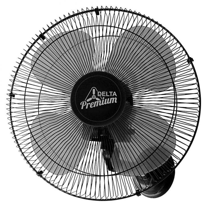 Ventilador Parede 50cm Bivolt Preto 60 Fios Premium Venti-Delta