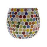 Cachepot Mosaico Colorido 7 X 8 Cm Vênus
