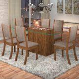 Conjunto Mesa Facily Com 6 Cadeiras Kiara Avelã E Canela