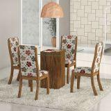 Conjunto de Mesa Com 4 Cadeiras Avelã & Primavera Gretta Viero
