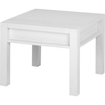 Mesa Lateral Linear Branco Escovado