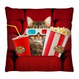 Almofada 40x40cm - Gato Cinema - Virô Presentes