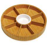 Petisqueira Giratória 9 Divisões Atlânta Bambú