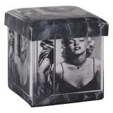 Puff Box Marilyn Sexy Madeira Estampado