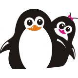 Adesivo Geladeira X4 Adesivos Pinguins Colorido  CZ22 P