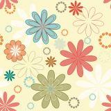 Adesivo Papel de Parede X4 Adesivos Flores Colorido  PA18 M