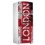 Adesivo Porta de Geladeira X4 Adesivos London Colorido  GL06