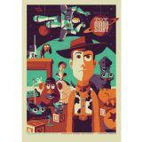 Adesivo Poster Vintage X4 Adesivos Toy Story Colorido  PV34 P