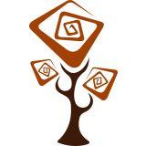 Adesivo de Parede Árvore x4 Adesivos Marrom / Laranja