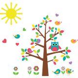 Adesivo de Parede Infantil X4 Adesivos Árvore Colorido  QI147 G