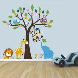 Adesivo de Parede Infantil X4 Adesivos Decorativo Colorido  QI153 M
