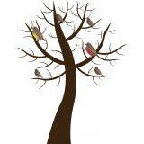 Adesivo de Parede X4 Adesivos Árvore Pássaros