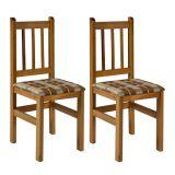Conjunto 2 Cadeiras Ref 20 Cerejeira Com Xadrez