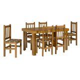 Conjunto De Mesa e 6 Cadeiras 153/20 Cerejeira