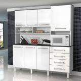 Armário de Cozinha Splendore 7 Portas MDP Branco Liso Zanzini