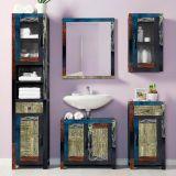 Armário Baixo Banheiro Goa 1 Porta e 1 Gaveta Multicolorida