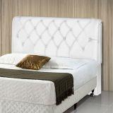 Cabeceira Estofada Box 104501LX Casal Luna Branco