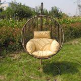 Cadeira De Balanço Suspensa Marrom E Bege