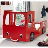 Cama Infantil Caminhão Incêndio  Vermelho
