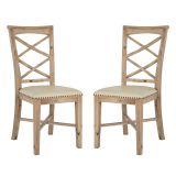 Conjunto 2 Cadeiras Romantik Mel com Bege