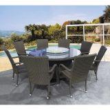 Conjunto De Mesa E 6 Cadeiras Para Jardim Marrom