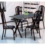 Conjunto Mesa Miame e 4 Cadeiras Granada Preto & Preto Floral