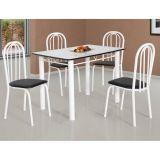 Conjunto de Mesa 4 Cadeiras Atlanta e Mali Branco & Preto
