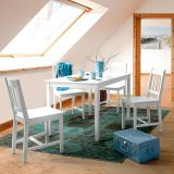 Conjunto de Mesa de Jantar 4 cadeiras Branca