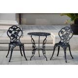 Conjunto de Mesa e 2 Cadeiras Yqa-835 Preto
