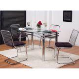 Conjunto de Mesa e 4 cadeiras de jantar 120 II Incolor & Cromado