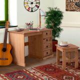 Escrivaninha e Banco I 4 Gavetas - Finca Rustica