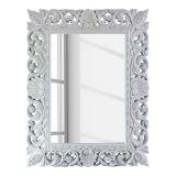 Espelho Sino IV Branco 87x70 cm - Mango