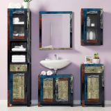 Gabinete Goa 1 Porta e 1 Gaveta Multicolorida