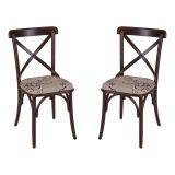 Kit 2 Cadeiras de Jantar La Cave 94 Estofada Imbuia