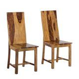 Kit 2 Cadeiras de Jantar Marrom Claro - Andaman