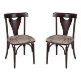 Kit 2 Cadeiras de Jantar Treviso V 94 Estofada Imbuia
