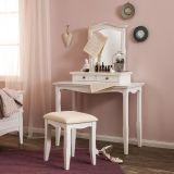 Penteadeira Giselle com banco e espelho 2 Gavetas Branco