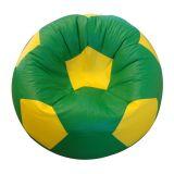 Puff Bola Super Courino Amarelo e Verde